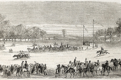 Vintage Horse Race Illustration