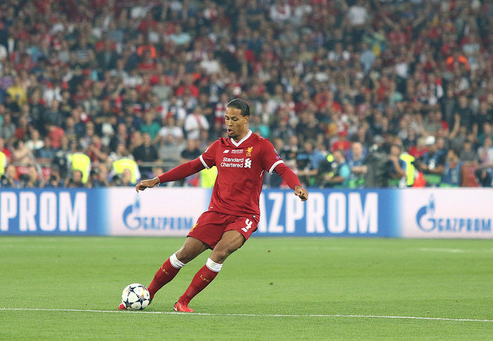 Virgil Van Dijk During 2018 Champions League Final