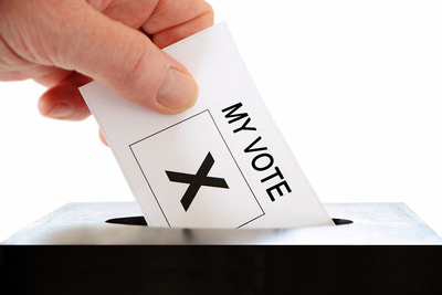 Voting Slip in Ballot Box