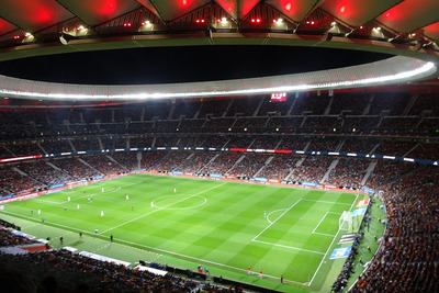Wanda Metropolitano Stadium in Marid During Football Match