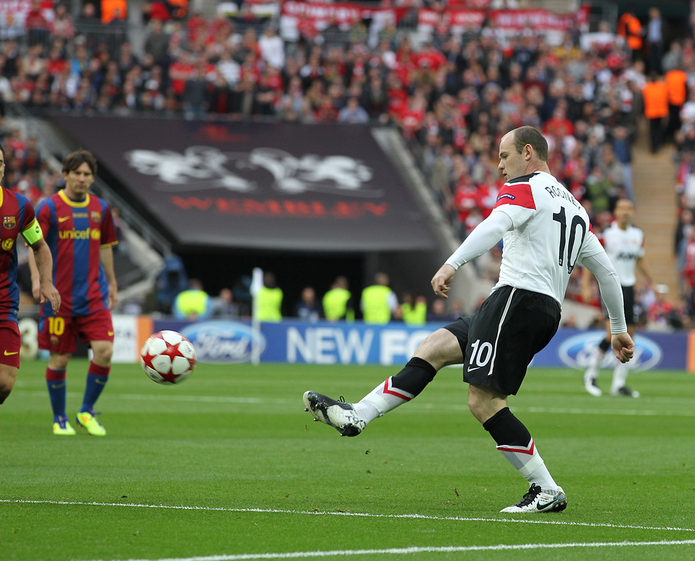 Wayne Rooney in the 2011 Champions League Final