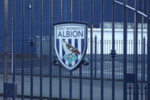 West Bromwich Albion Gate Sign at the Hawthorms Stadium