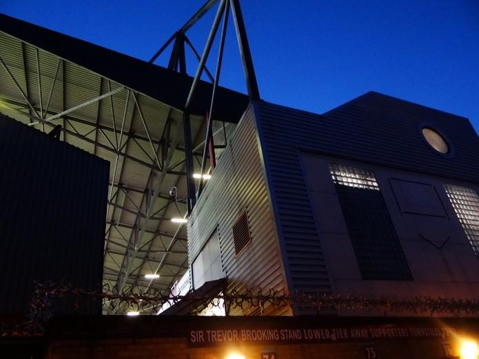 West Ham's Upton Park at Night