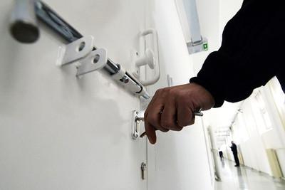White Prison Door