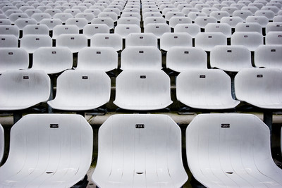 White Stadium Seats