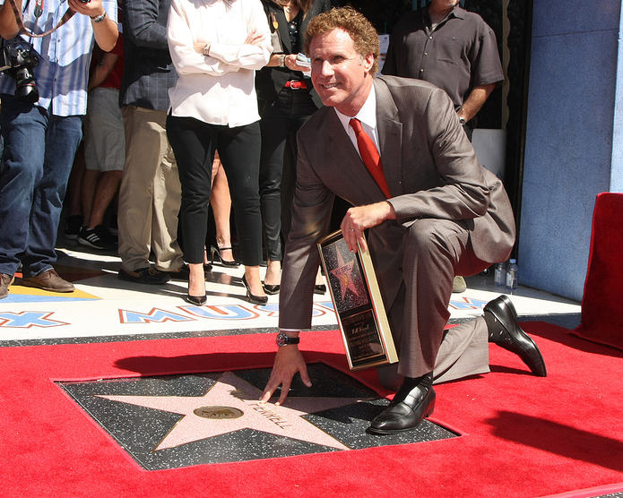 Will Ferrell on the Hollywood Walk of Fame