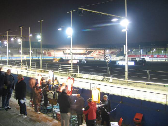 Wimbledon Greyhound Stadium During Evening Racing