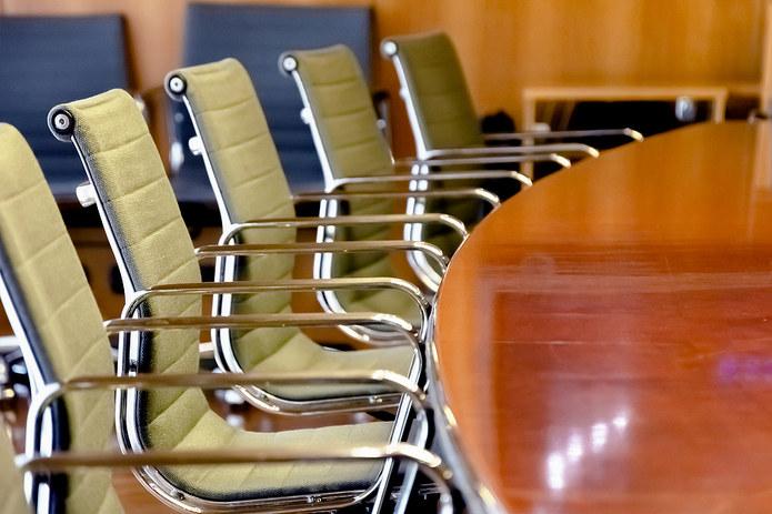 Wooden Boardroom Table