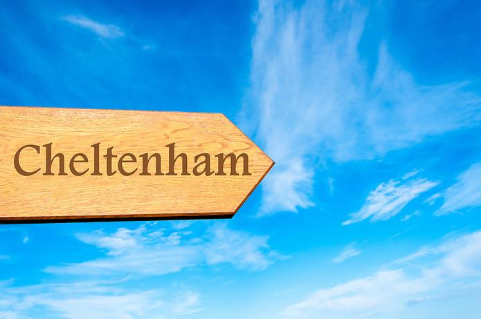 Wooden Cheltenham Sign