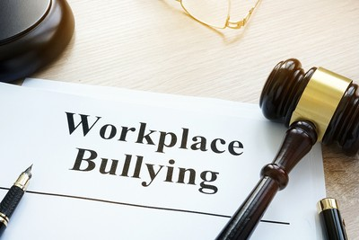 Workplace Bullying Document and Gavel
