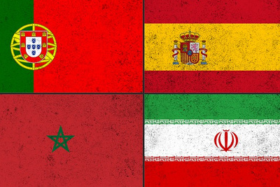 World Cup Group B Flag Collage