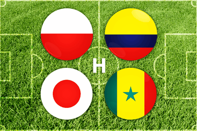 World Cup Group H Football Flags