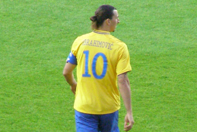 Footballer Zlatan Imbrahimovic Playing For Sweden