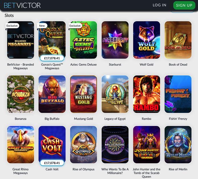 BetVictor Casino Screenshot