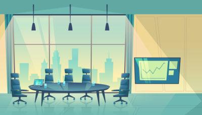 Cartoon of a Company Boardroom