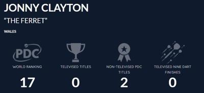 Jonny Clayton Record