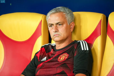 Jose Mourinho looking sad