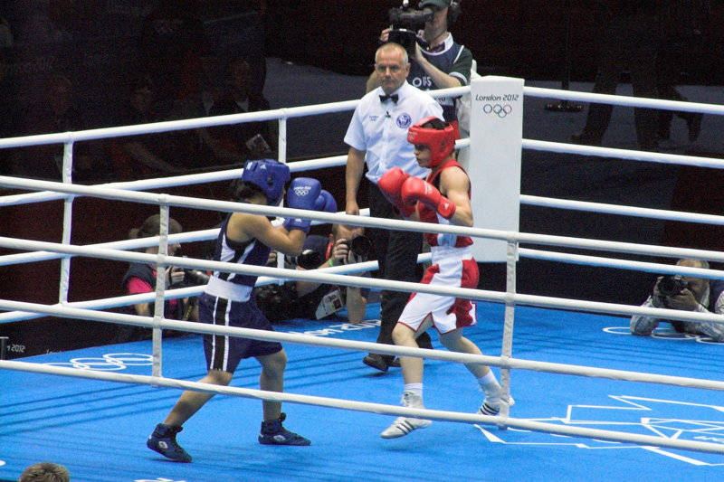 Katie Taylor at the London Olympics in 2012