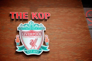 The Kop Sign at Anfield Liverpool