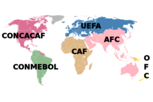 Map Of Global Football Federations