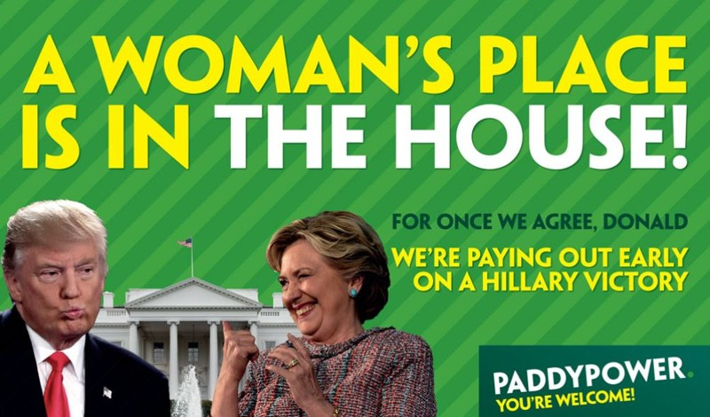 Paddy Power Clinton Payout