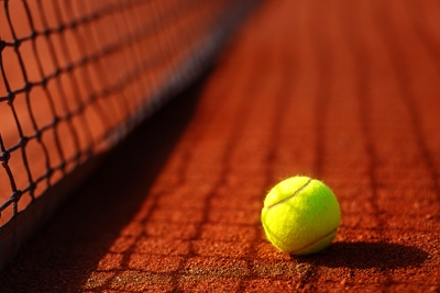 Tennis Ball on Clay
