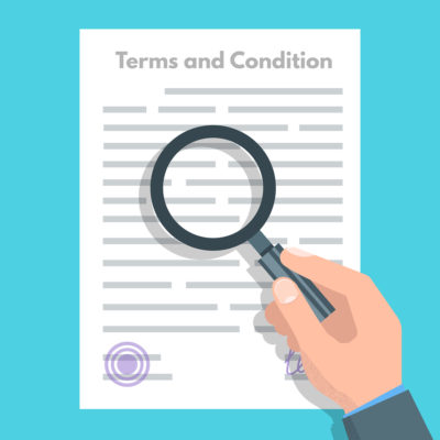 Checking Terms and Conditions